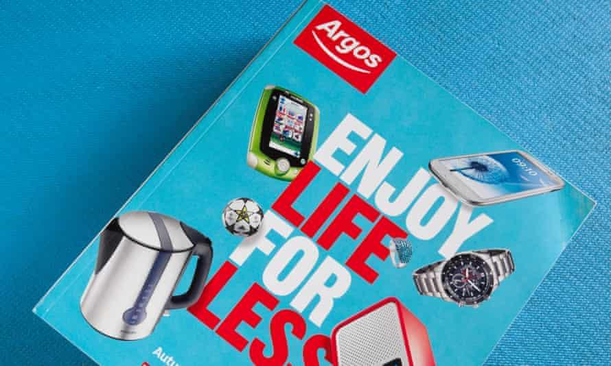 an Argos catalogue