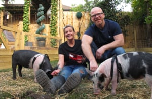'Pig Dad's first act was to cook some roast pork' ... John and Dawn in Meat the Family.