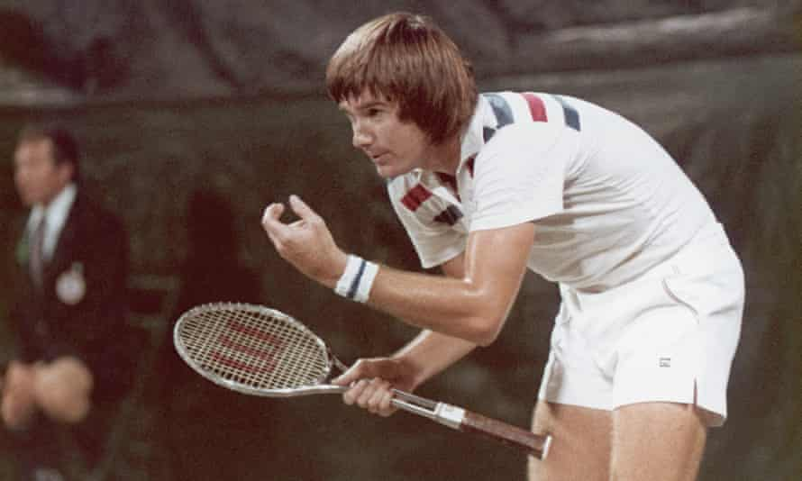 Jimmy Connors with his T2000 racket.