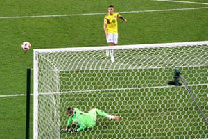 Then Mateus Uribe of Colombia cracks the crossbar. We're all square again.