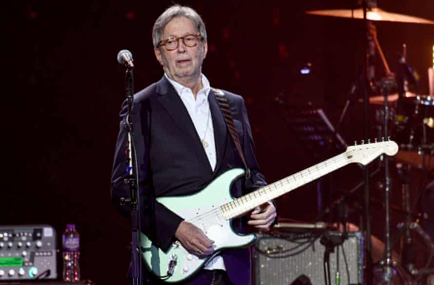Clapton performing at the O2 in 2020.