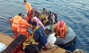 Residents from smaller islands are evacuated after the earthquake hit Indonesia.