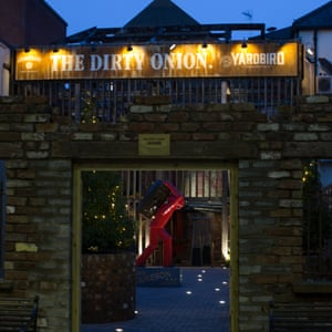 Exterior of the Dirty Onion bar, Belfast