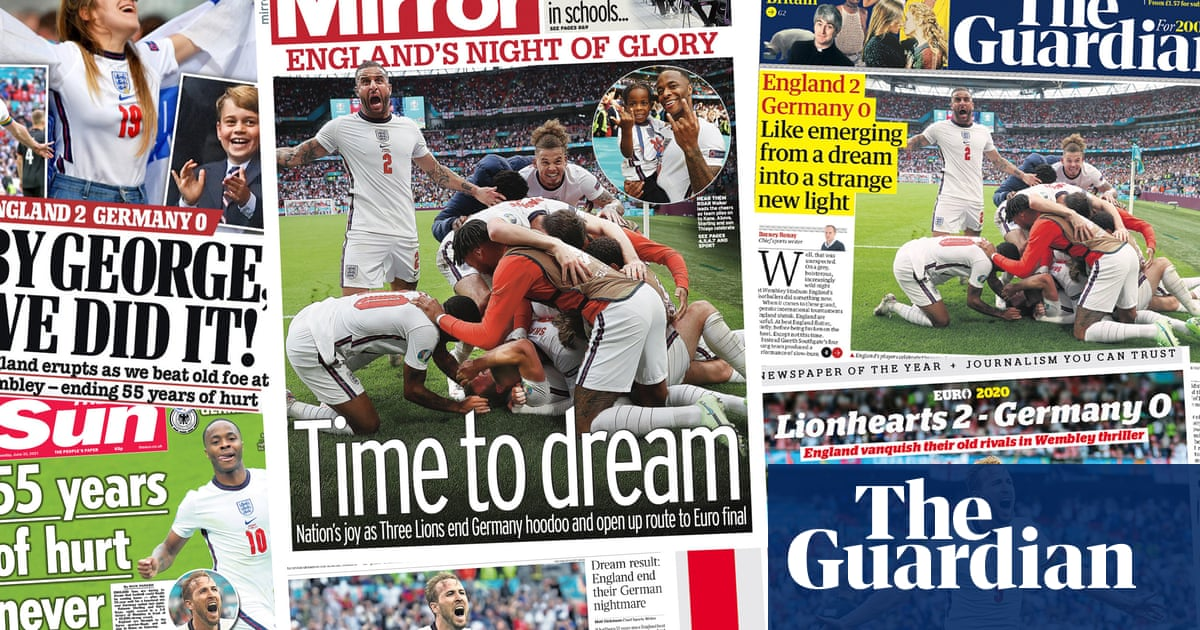 'It's coming Rome': how the papers covered England's Euro victory over Germany