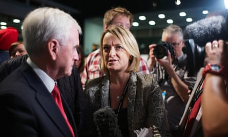 The BBC's Laura Kuenssberg interviewing shadow chancellor John McDonnell at the Labour party conference this week