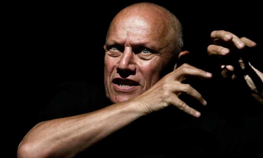 the writer and performer Steven Berkoff at the Edinburgh festival in 2002.