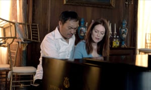 Ken Watanabe and Julianne Moore in the film of Bel Canto.