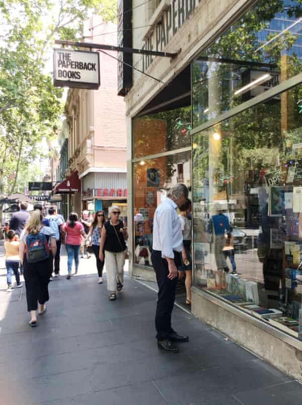 What to buy? The Paperback Bookshop in Bourke Street.