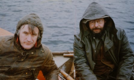 Ted Hughes and Barrie Cooke pike fishing in Ireland, 1978-9.