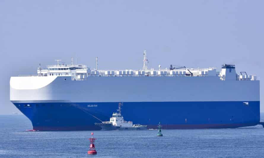 the vehicle cargo ship Helios Ray