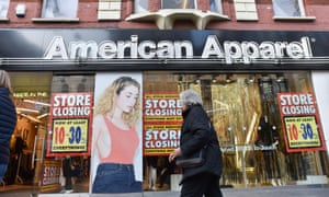 A closing down sale at an American Apparel store in London.