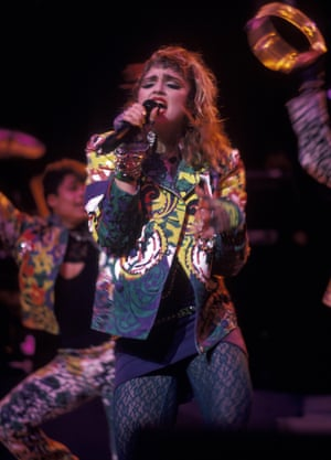 Performing in her stomping ground of New York in 1985.