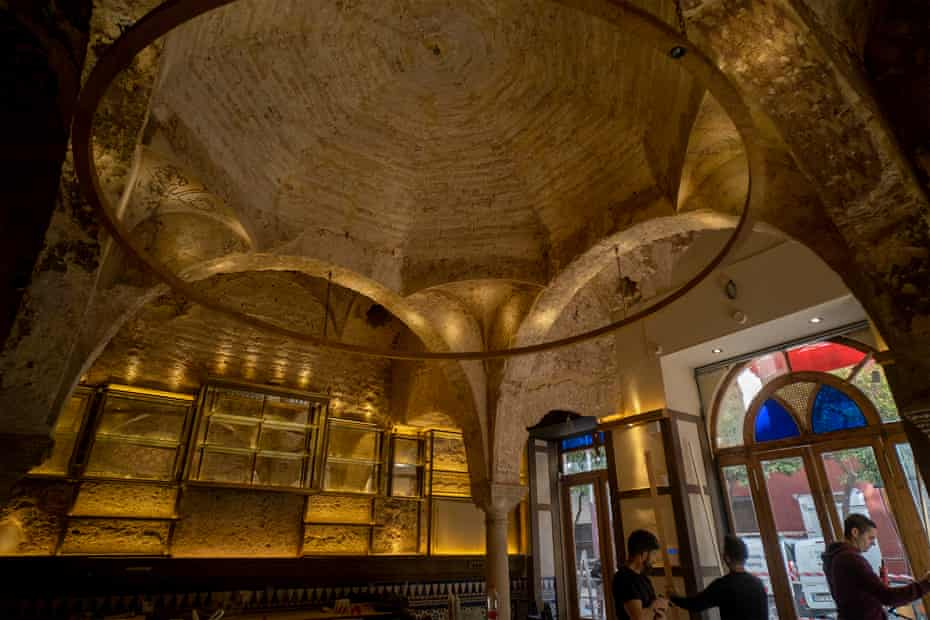 The bathhouse was discovered in a popular tapas bar in the heart of Seville.