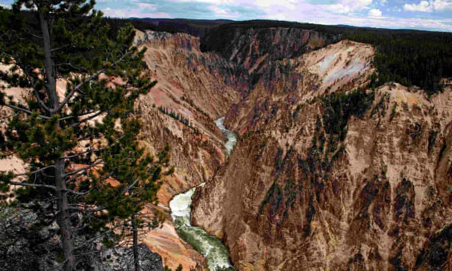 Grand Canyon of the Yellowstone river in Yellowstone National Park.