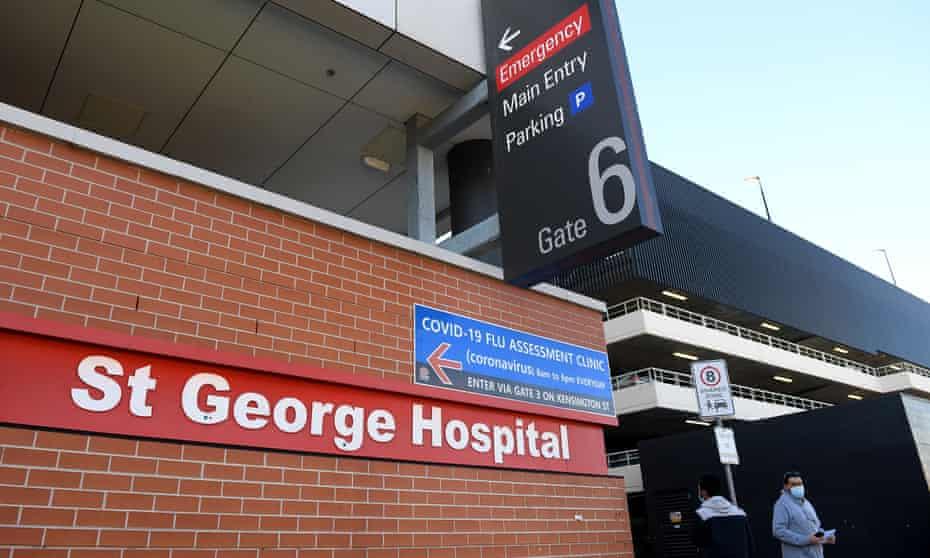 St George hospital in Kogarah, Sydney
