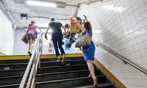 Steep stairs, such as these at a subway station in Manhattan, are a nightmare for those with mobility issues or with a pram or pushchair.