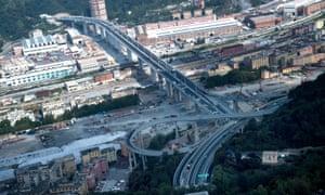 A general view of the new Genoa bridge