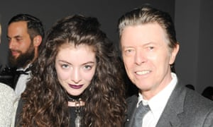 Lorde with David Bowie in 2013.