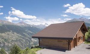 Home & away properties near cliffs, in Hérémence, Valais, Switzerland