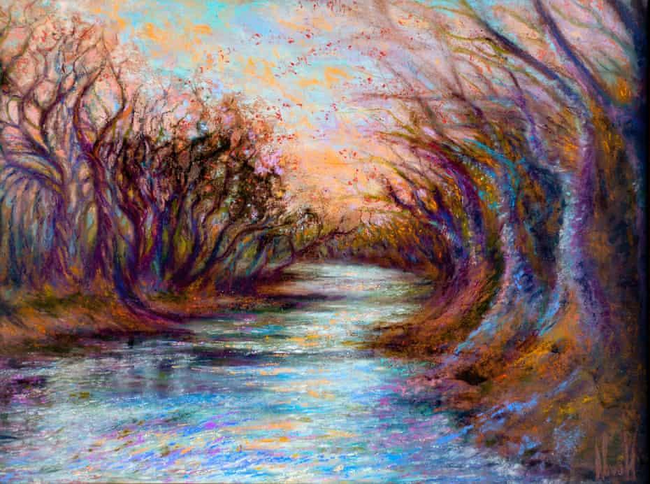 River Dancers, pastel, by Kim Novak.