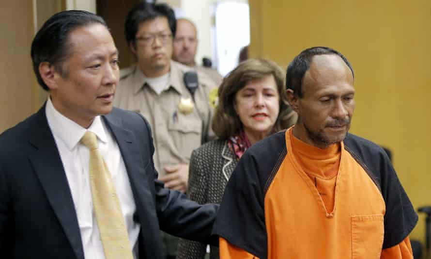 Jose Ines Garcia Zarate, right, was found not guilty of murder in Kate Steinle's death.