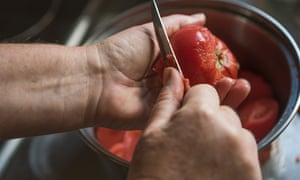 Not to skin tomatoes, says Simon Hopkinson, is not to care.