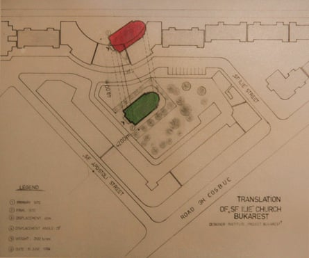 A design for relocating a church.