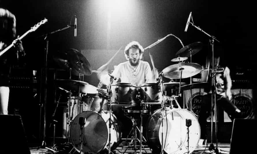 Ginger Baker performing with Baker Gurvitz Army, 1975.
