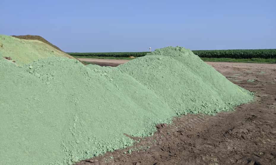A pesticide pile in Mead, Nebraska.