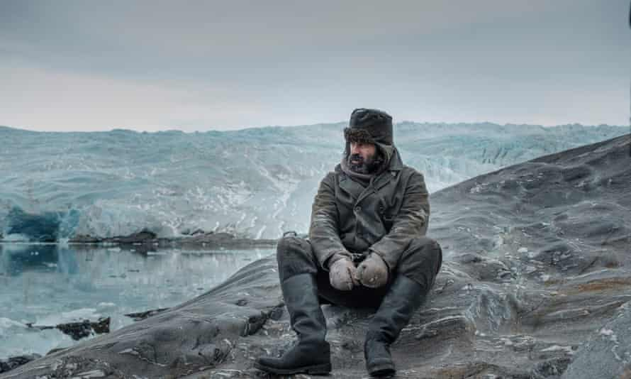 Colin Farrell as the brutish harpooner Henry Drax in The North Water.