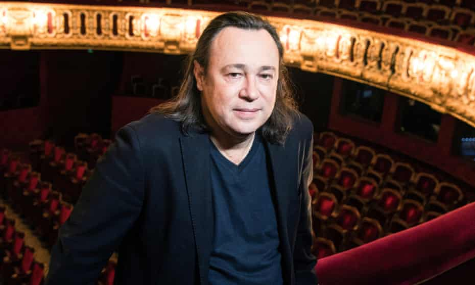 Stéphane Braunschweig photographed at Paris's Odéon theatre.