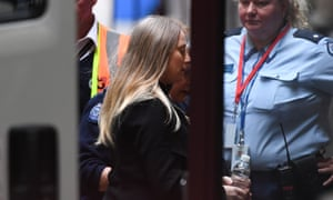 Robyn Lindholm arrives at the supreme court in Melbourne