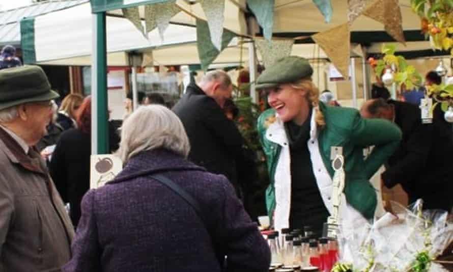 Suzannah Starkey on a market stall