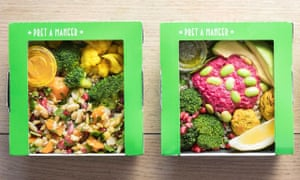 Vegan veg boxes from Pret a Manger