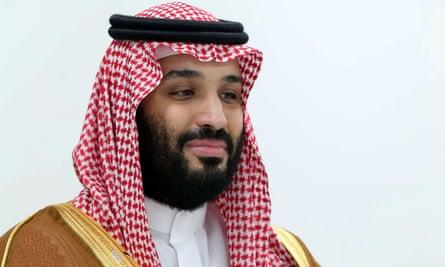 Saudi Arabia's crown prince, Mohammed bin Salman.