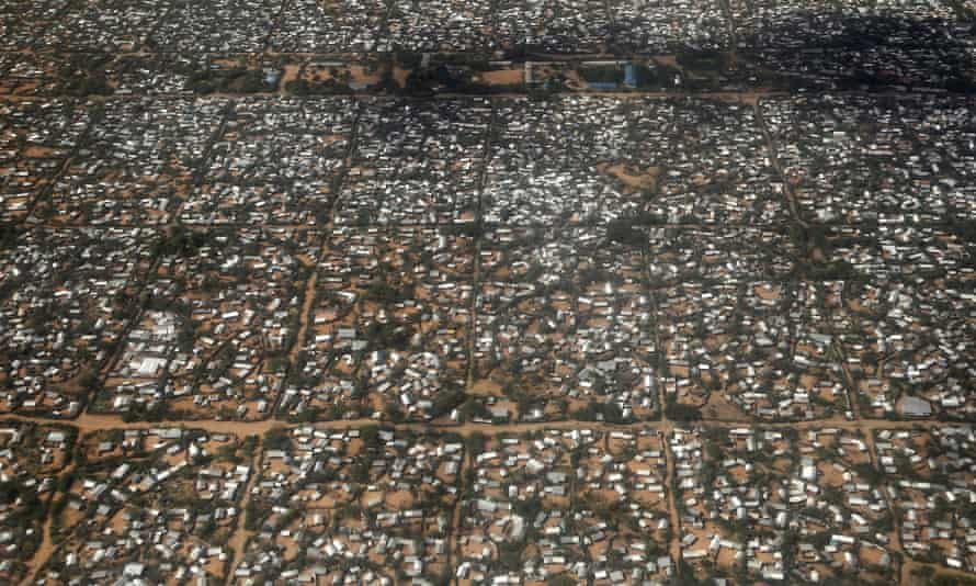 An aerial picture shows a section of the Hagadera camp in Dadaab near the border of Kenya and Somalia.