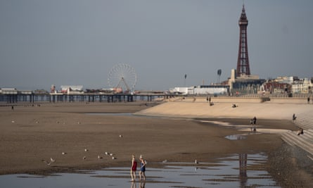 Blackpool's beach after the new rules on social gatherings were implemented.
