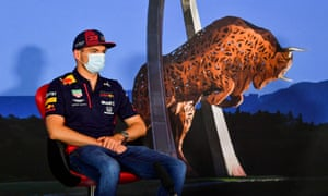Verstappen carries out media duties before the season-opening Austrian grand prix.