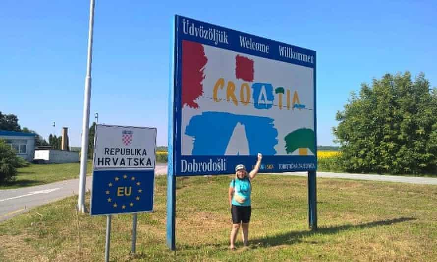 The writer arrives in Croatia