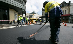 Resurfacing of Watkin Street, Newtown, using asphalt containing recycled printer toner