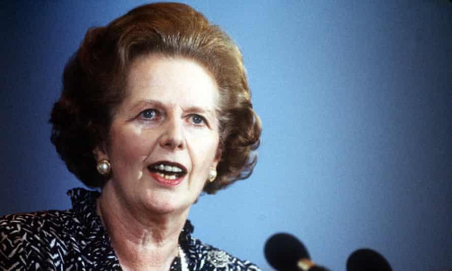 Margaret Thatcher pictured in 1986