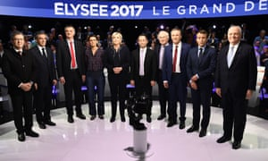 Candidates in French presidential election TV debate
