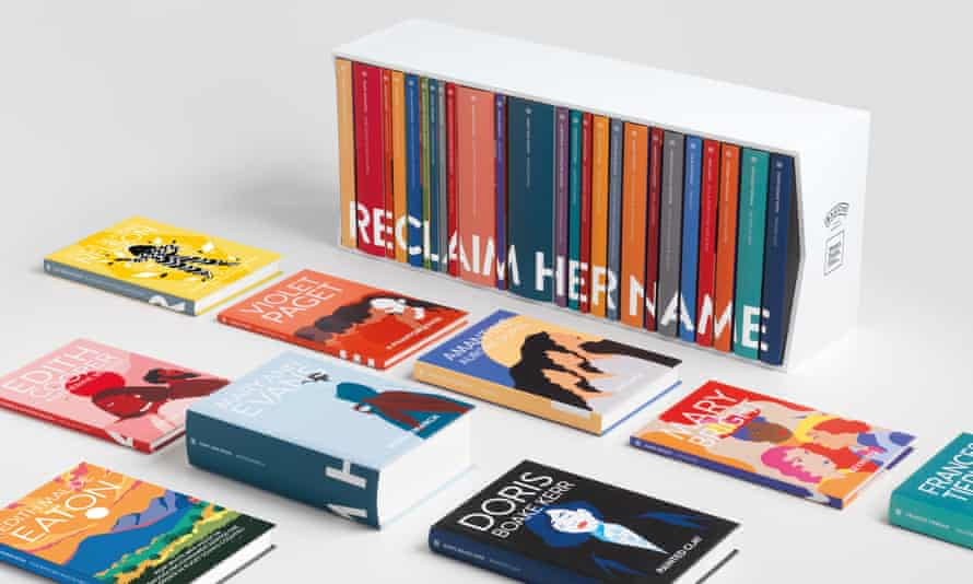 Reclaim Her Name, a series of 25 books being published under women writers' names, instead of their male pseudonyms.