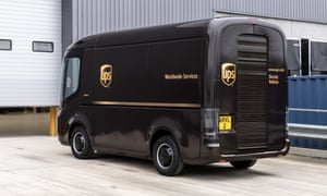 An Arrival van with UPS livery