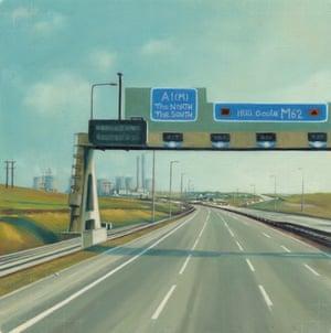Road To Mum motoway bridge painting by artist Jen Orpin.