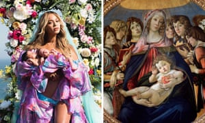 Beyoncé shows off her twins and Botticelli's Madonna of the Pomegranate.
