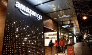 The Amazon Go shop in Seattle, where the company's new shopping model is being tested.