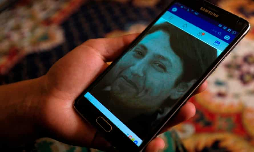 A picture of Barin Kobani on the phone of a military commander of the Syrian Kurdish Women's Protection Units.