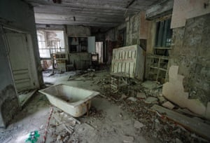 Pripyat, Ukraine. The now abandoned hospital which received the first casualties on the night of the Chernobyl disaster in 1986.
