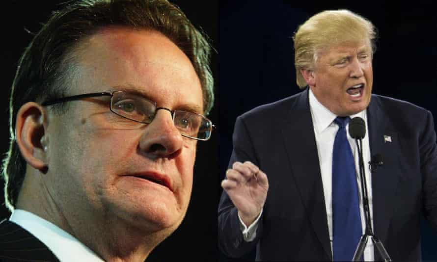A composite of Mark Latham and Donald Trump